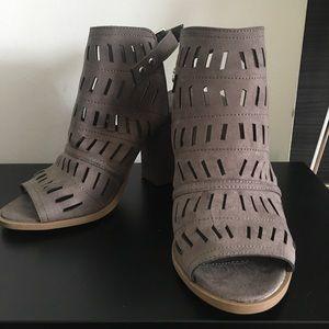 Christian Siriano Gray Block Heels